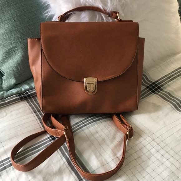 c1f788916bf Brown leather mini backpack